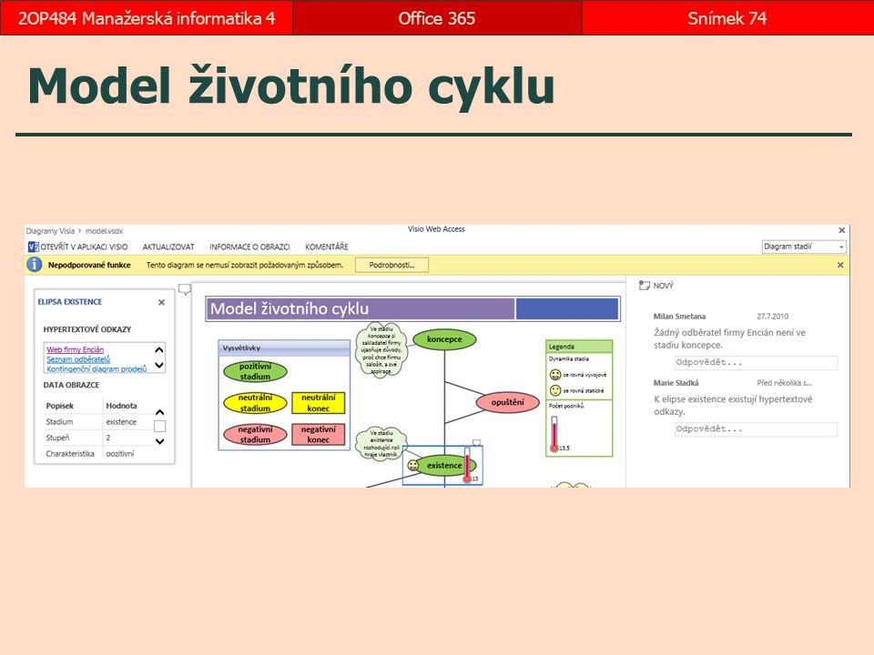 Model životního cyklu Office 365Snímek 742OP484 Manažerská informatika 4