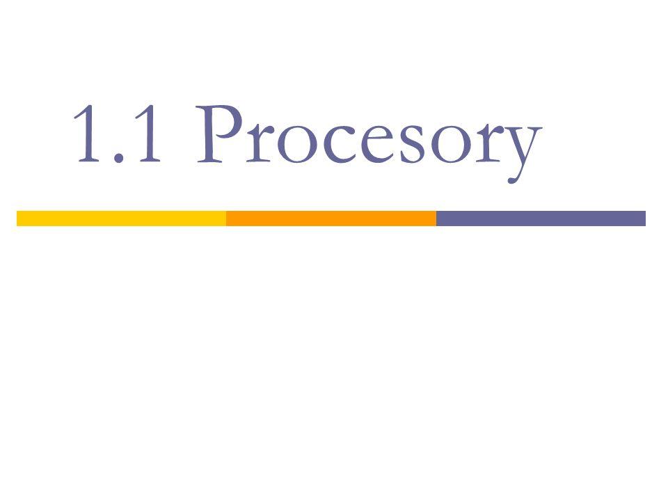 1.1 Procesory