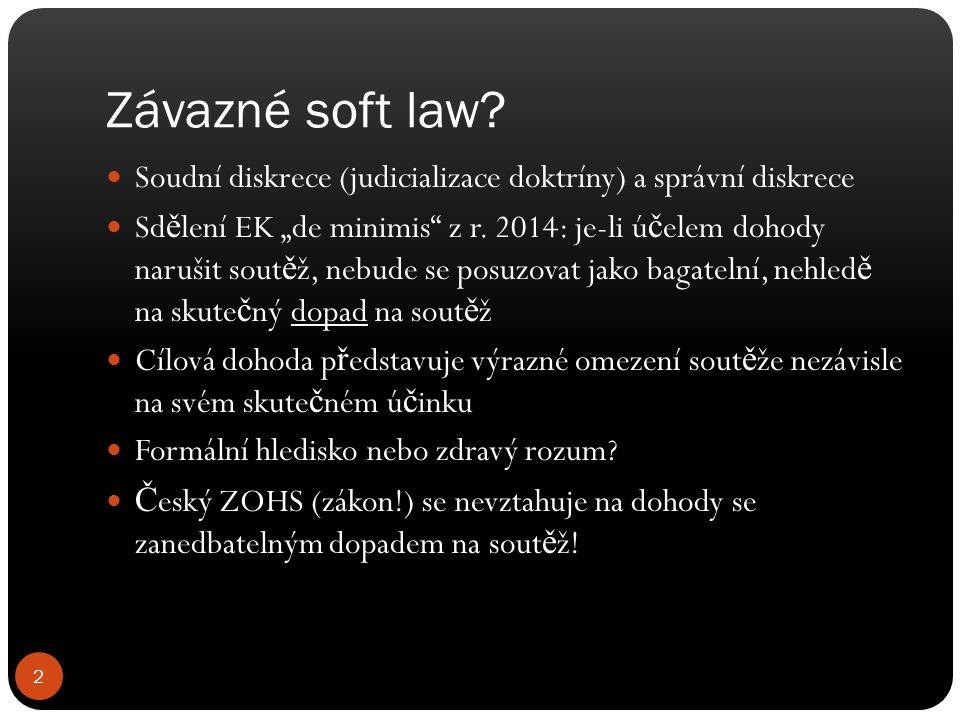 Závazné soft law.