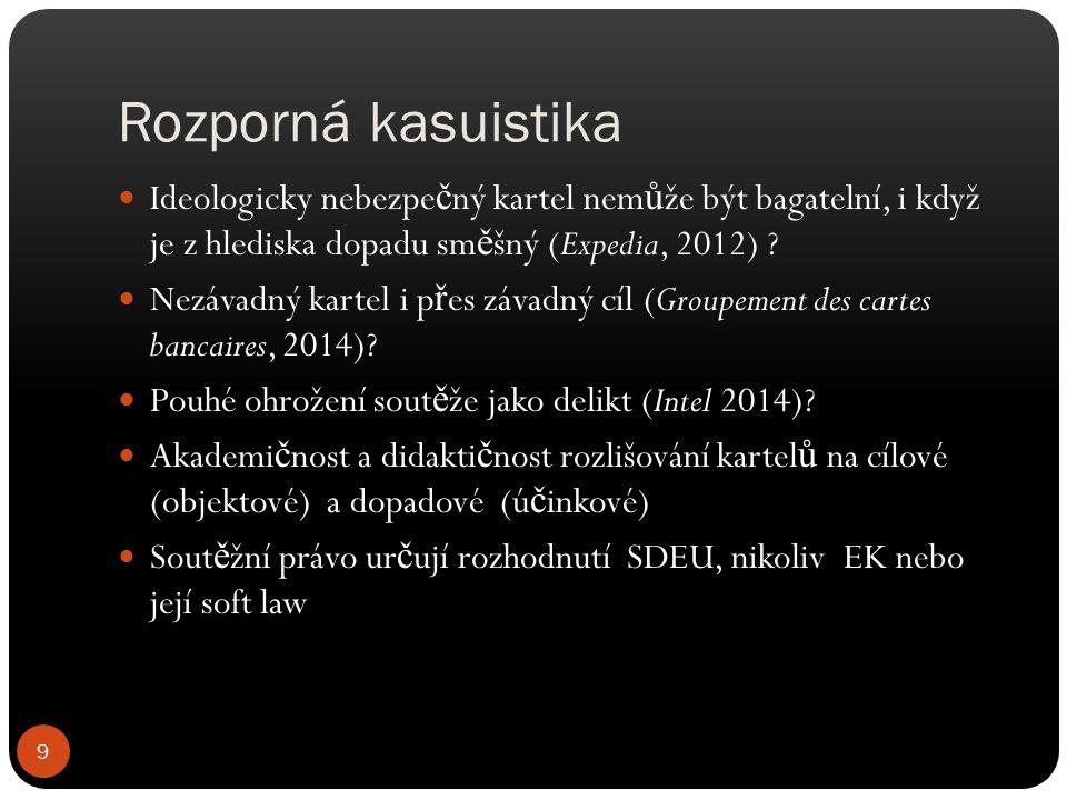 Rozporná kasuistika Ideologicky nebezpe č ný kartel nem ů že být bagatelní, i když je z hlediska dopadu sm ě šný (Expedia, 2012) .