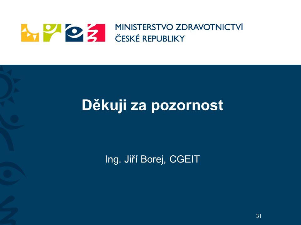 Děkuji za pozornost Ing. Jiří Borej, CGEIT 31