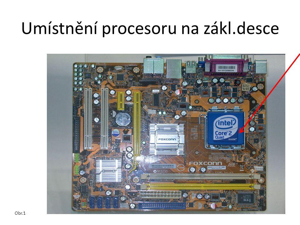 Umístnění procesoru na zákl.desce Obr.1