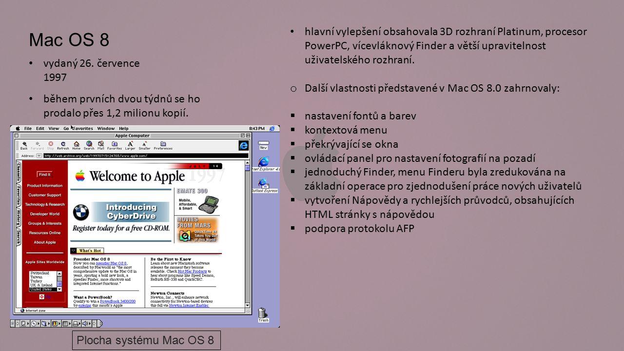 OS X je aktuální operační systém pro počítače Macintosh.