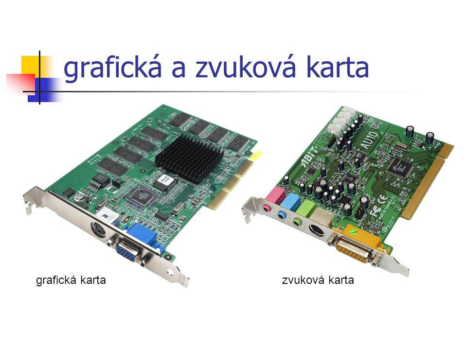 grafická a zvuková karta grafická kartazvuková karta