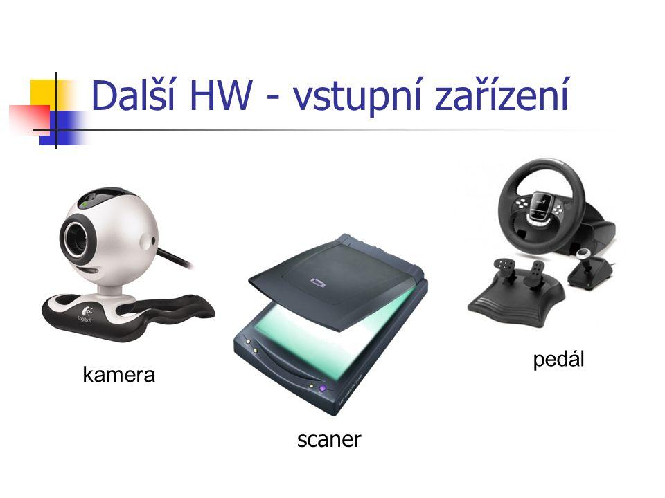 Další HW - vstupní zařízení scaner pedál kamera