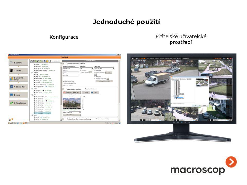 Konfigurace Přátelské uživatelské prostředí Jednoduché použití