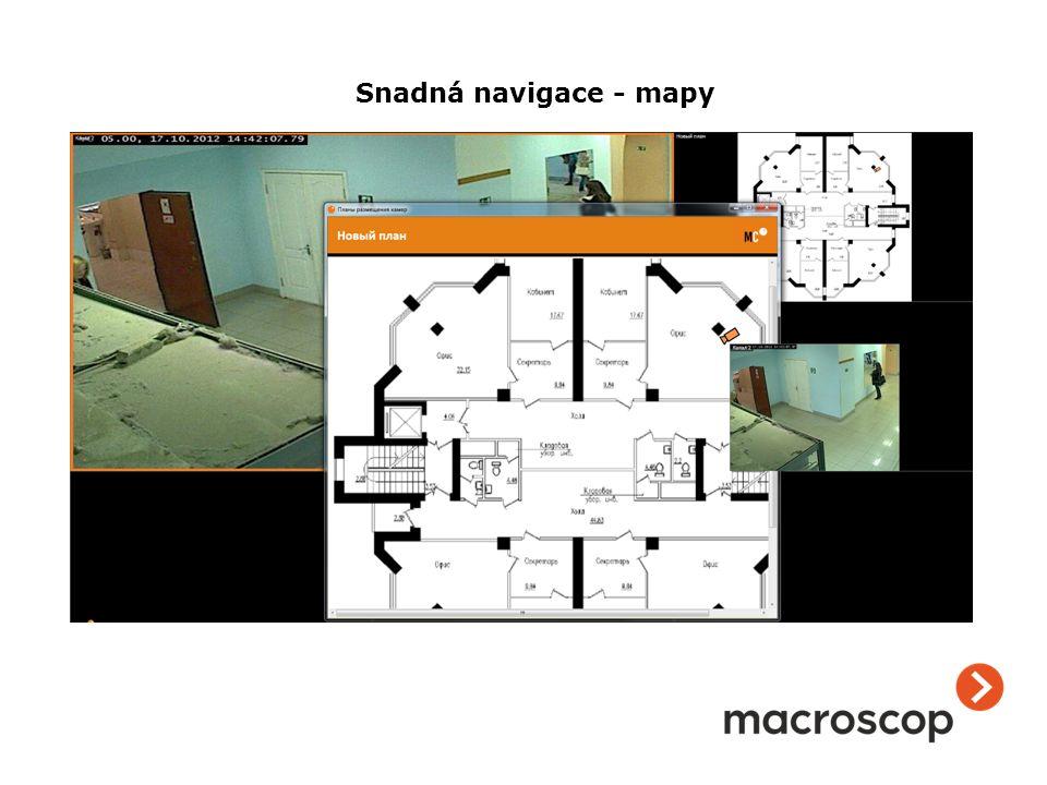 Snadná navigace - mapy
