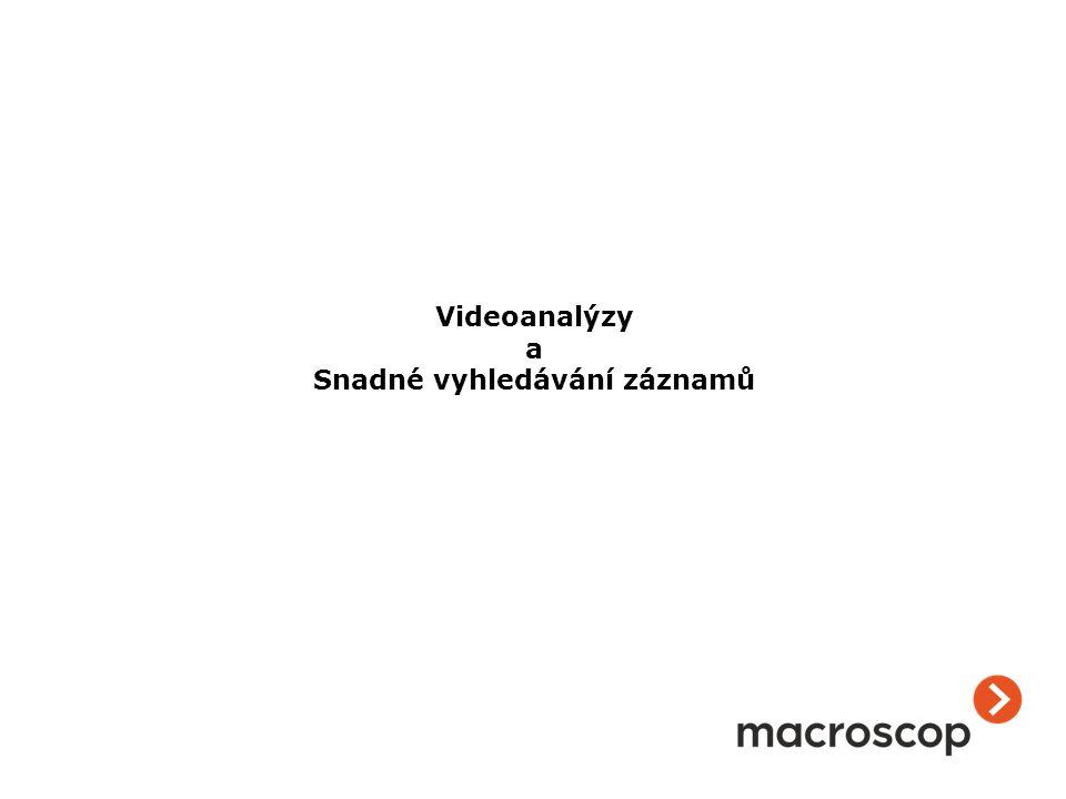 Videoanalýzy a Snadné vyhledávání záznamů