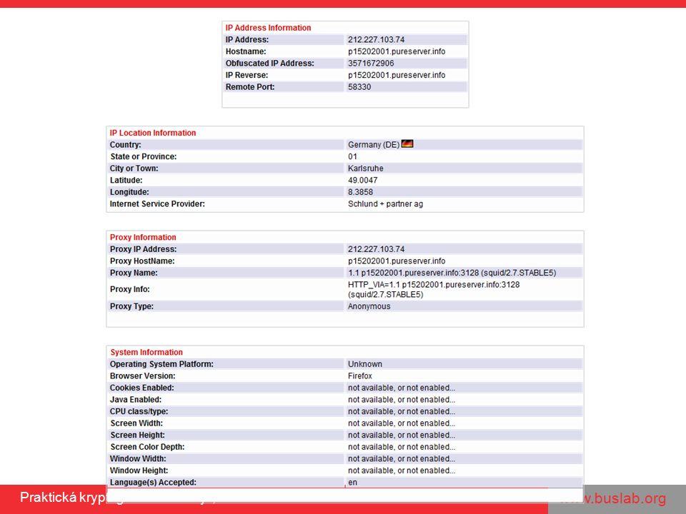 www.buslab.org Praktická kryptografie a nástroje, 25.11.2011