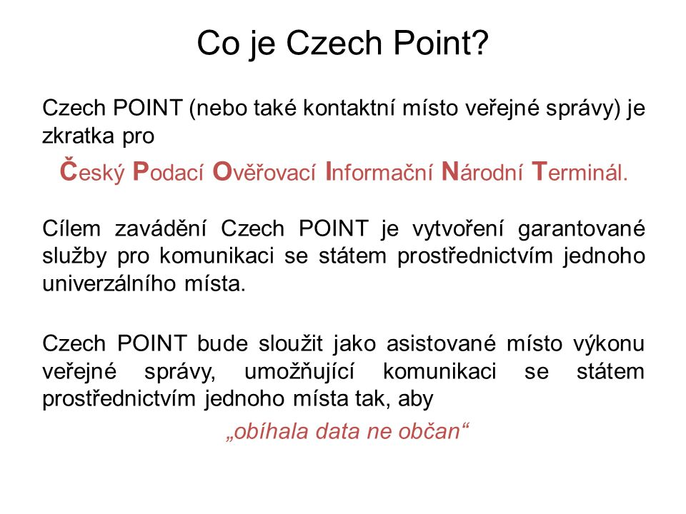 Co je Czech Point.