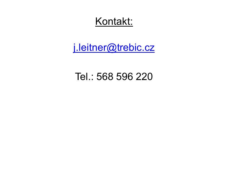 Kontakt: j.leitner@trebic.cz Tel.: 568 596 220