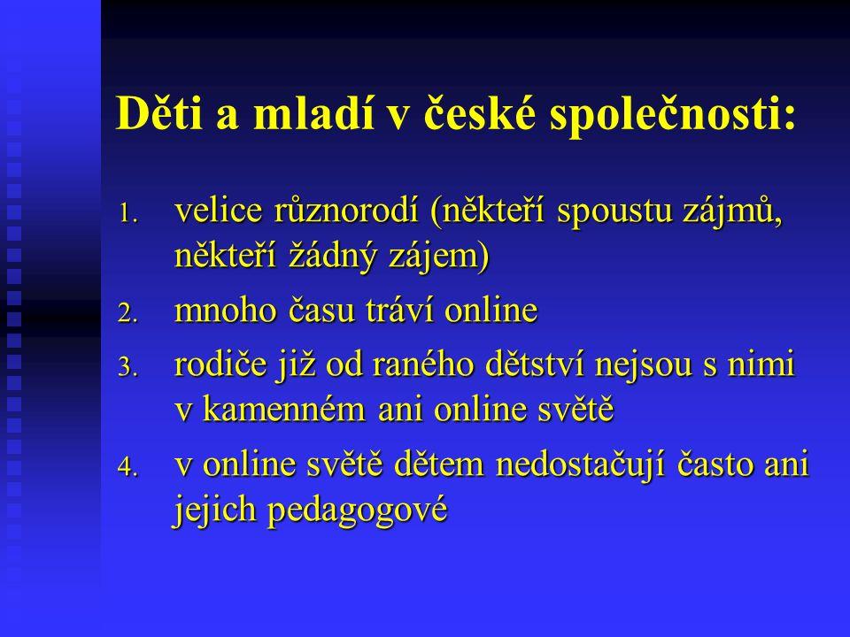 Problémové aspekty: 1.možnost vzniku nelegálních či pololegálních aktivit v online prostředí 2.