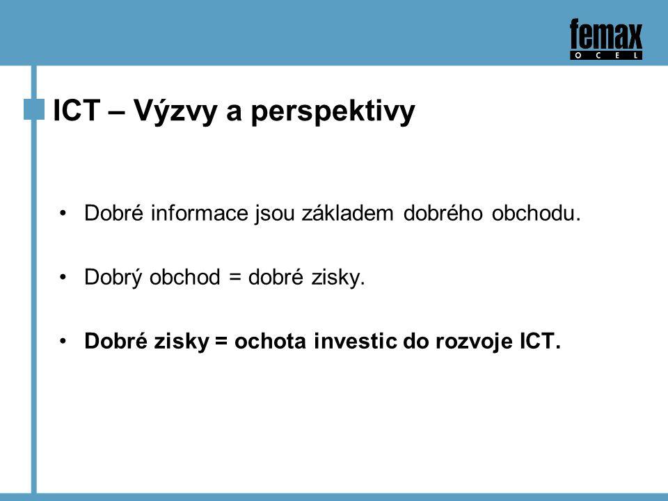 ICT – Výzvy a perspektivy Dobré informace jsou základem dobrého obchodu.