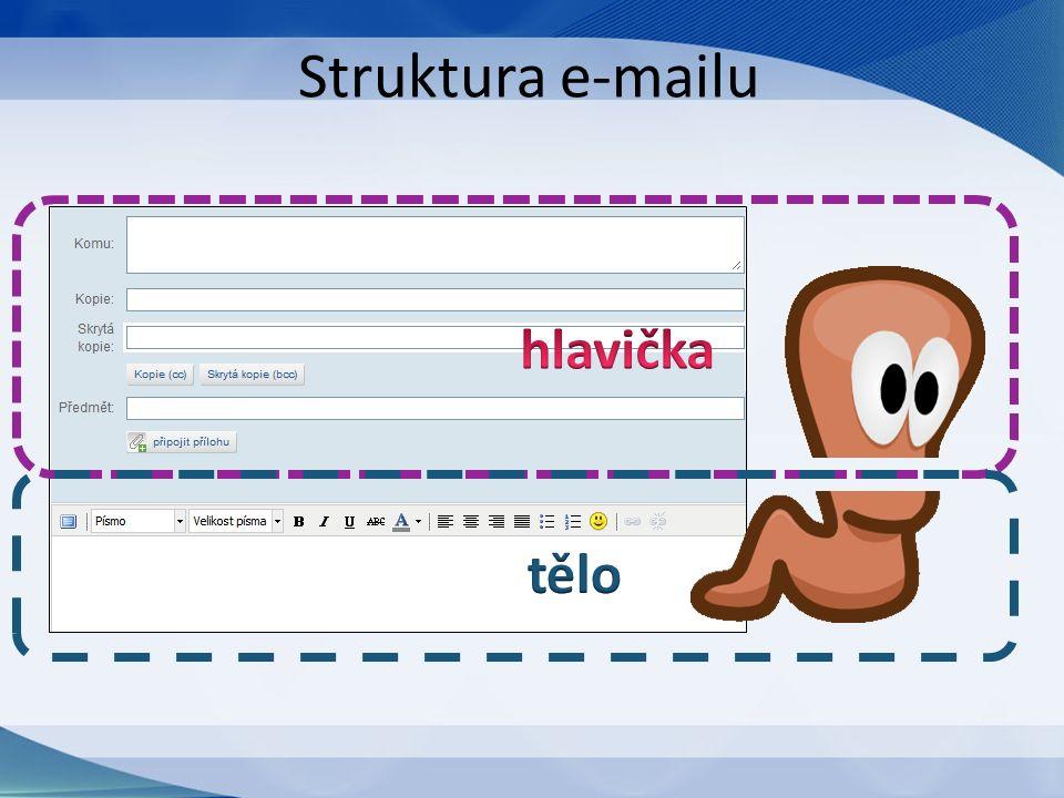 Struktura e-mailu