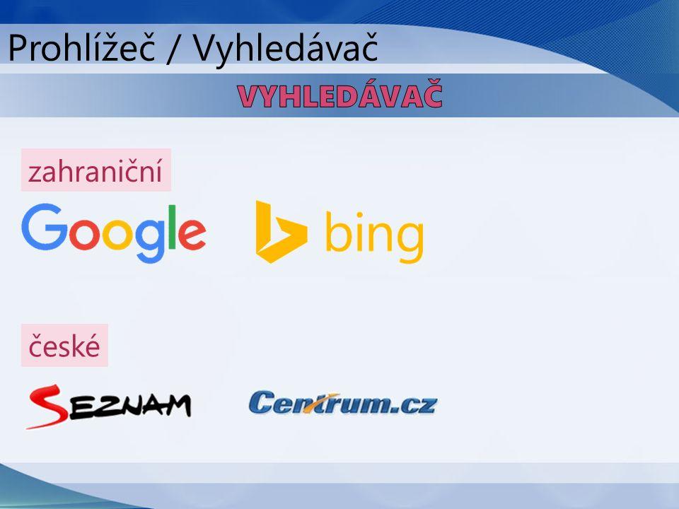 zahraniční české Prohlížeč / Vyhledávač
