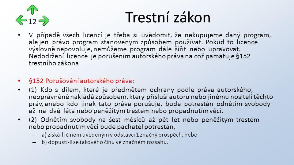 V případě všech licencí je třeba si uvědomit, že nekupujeme daný program, ale jen právo program stanoveným způsobem používat.