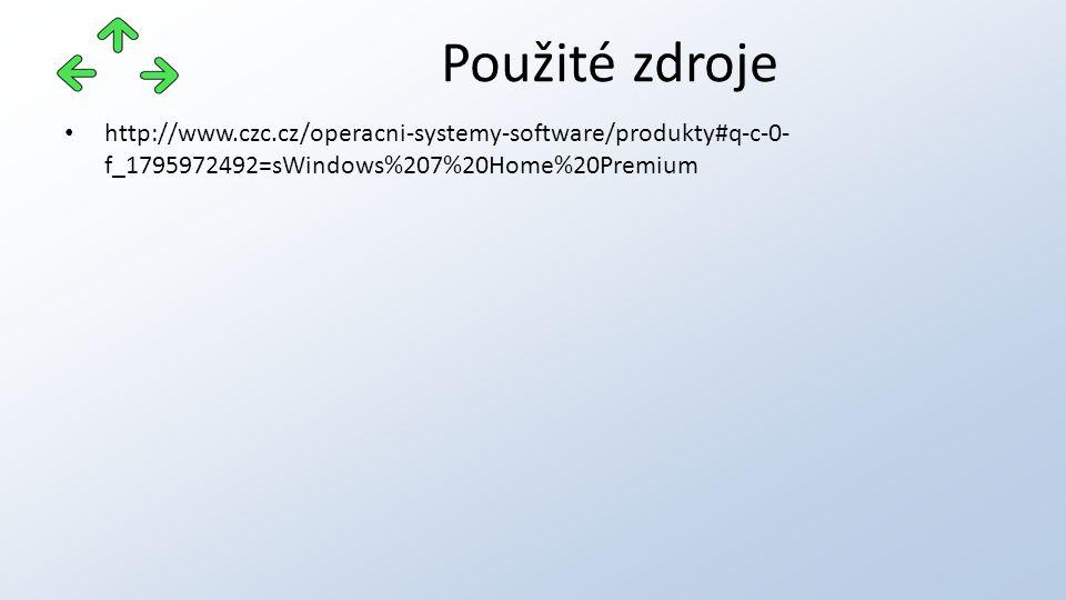 http://www.czc.cz/operacni-systemy-software/produkty#q-c-0- f_1795972492=sWindows%207%20Home%20Premium Použité zdroje
