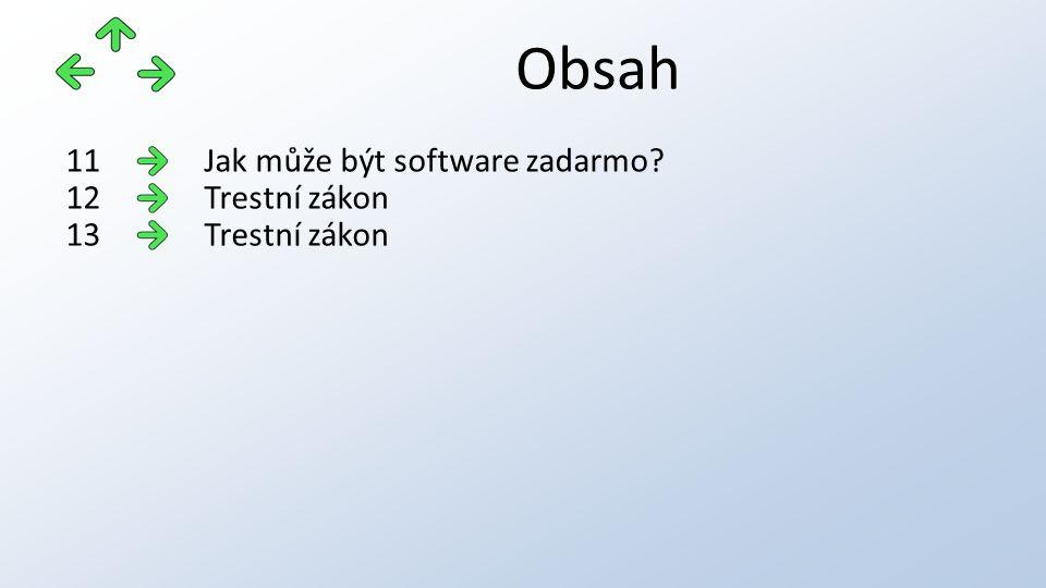 Obsah Jak může být software zadarmo 11 Trestní zákon12 Trestní zákon13