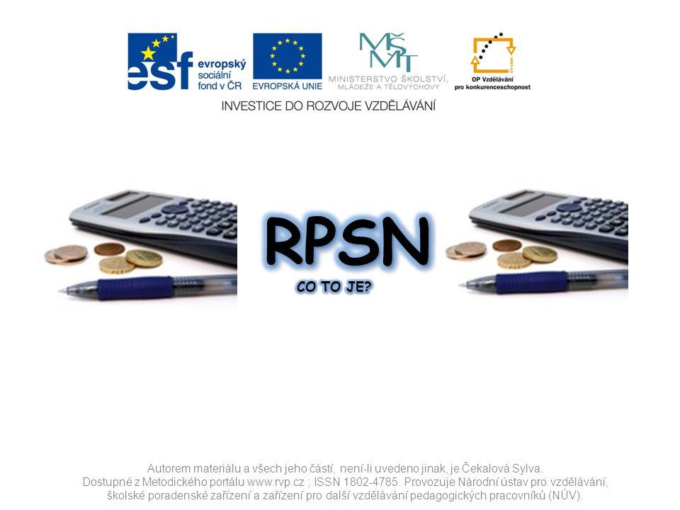 Co je to RPSN?Co je to RPSN.