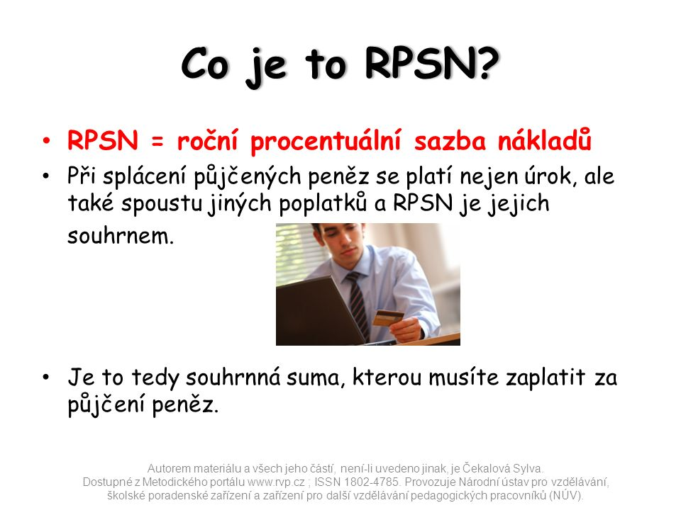 Co je to RPSN Co je to RPSN.
