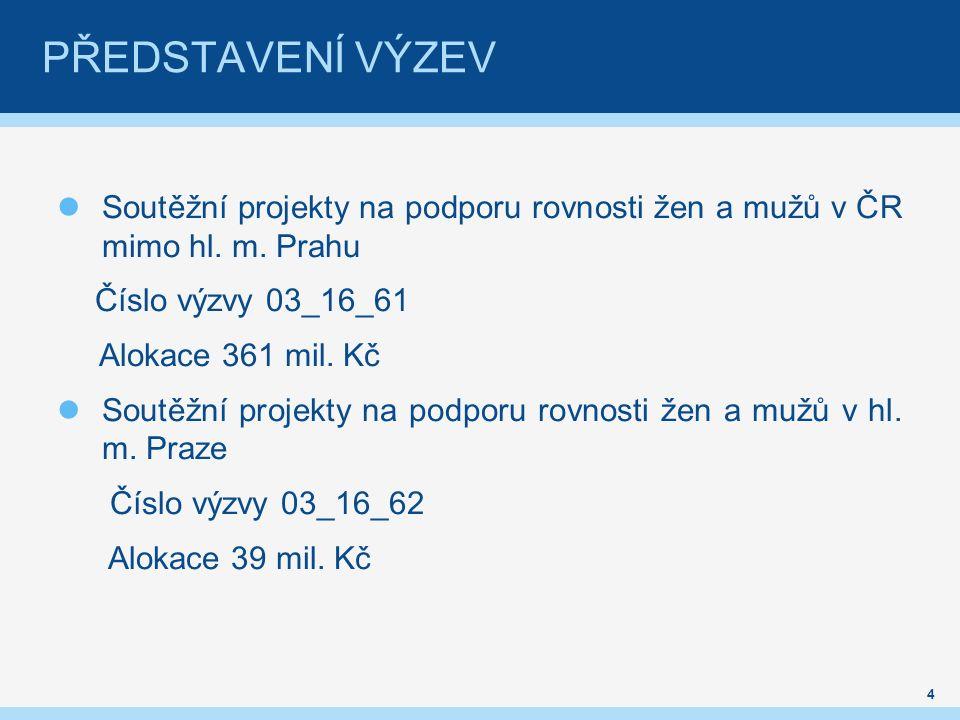 Soutěžní projekty na podporu rovnosti žen a mužů v ČR mimo hl.