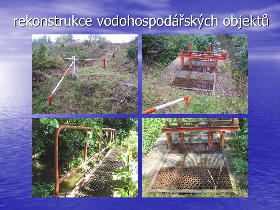 rekonstrukce vodohospodářských objektů