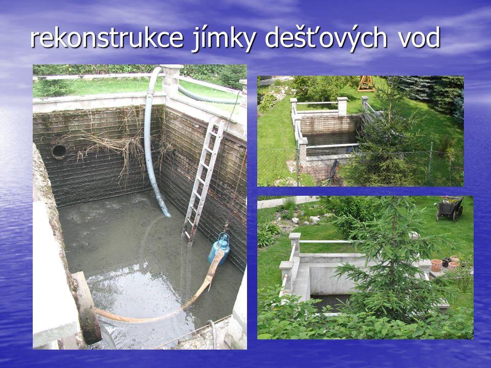 rekonstrukce jímky dešťových vod