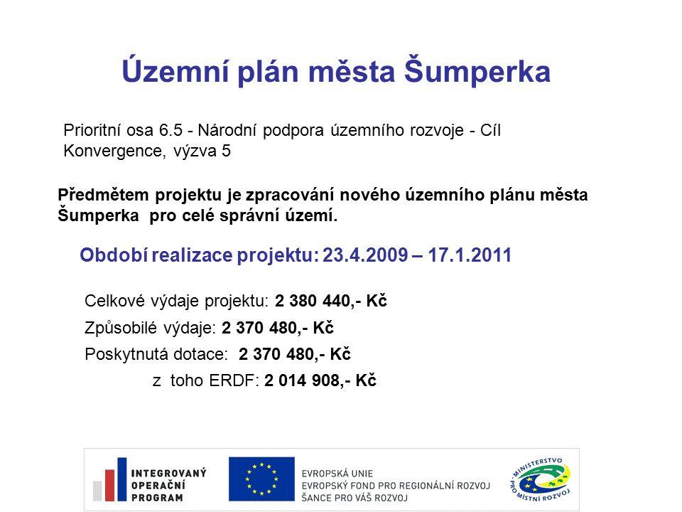 Územní plán města Šumperka Předmětem projektu je zpracování nového územního plánu města Šumperka pro celé správní území.