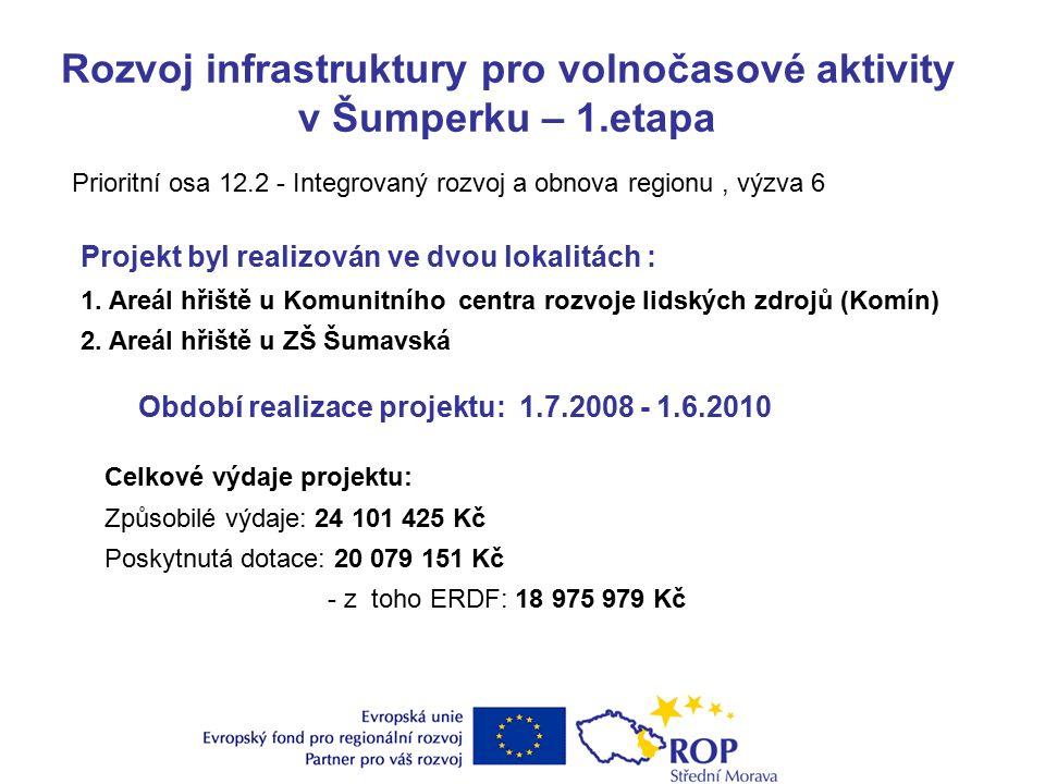 Rozvoj infrastruktury pro volnočasové aktivity v Šumperku – 1.etapa Projekt byl realizován ve dvou lokalitách : 1.