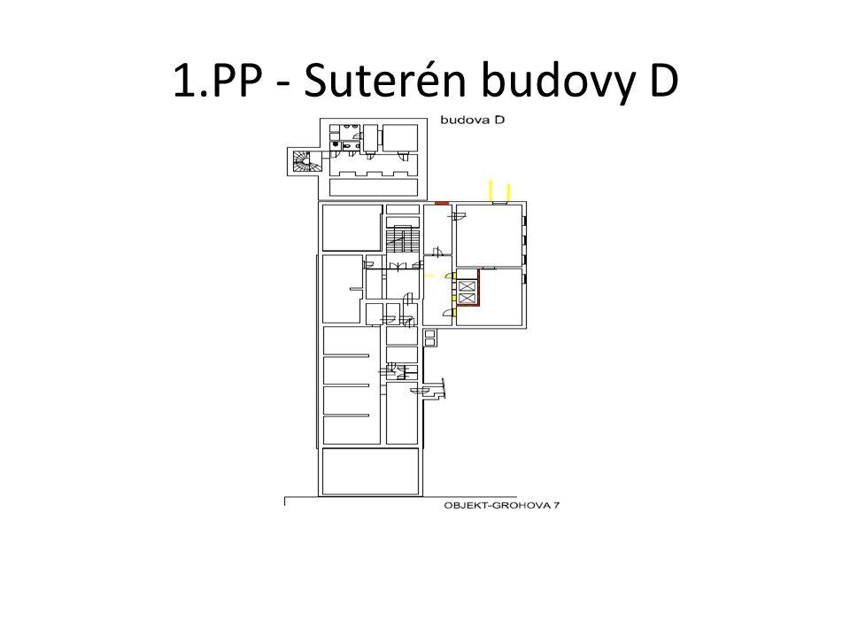 1.PP - Suterén budovy D