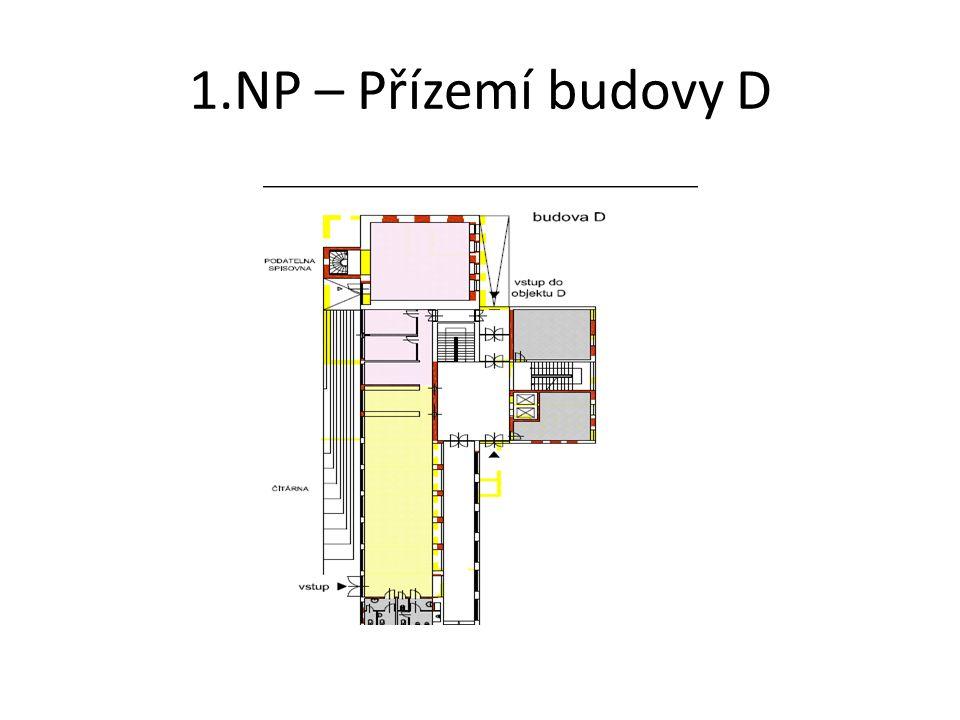1.NP – Přízemí budovy D
