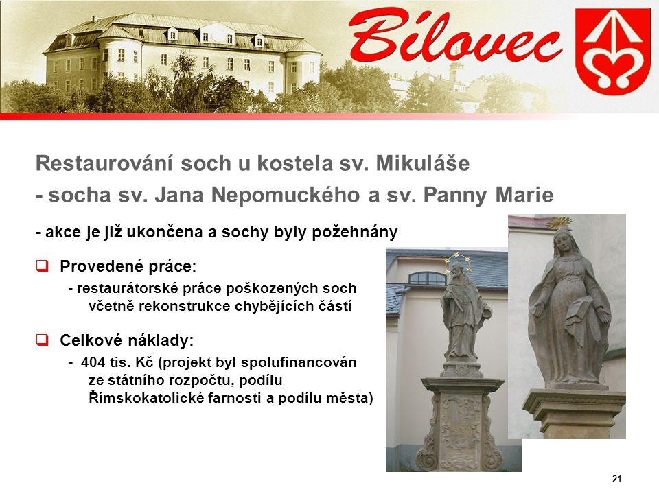 21 Restaurování soch u kostela sv. Mikuláše - socha sv.