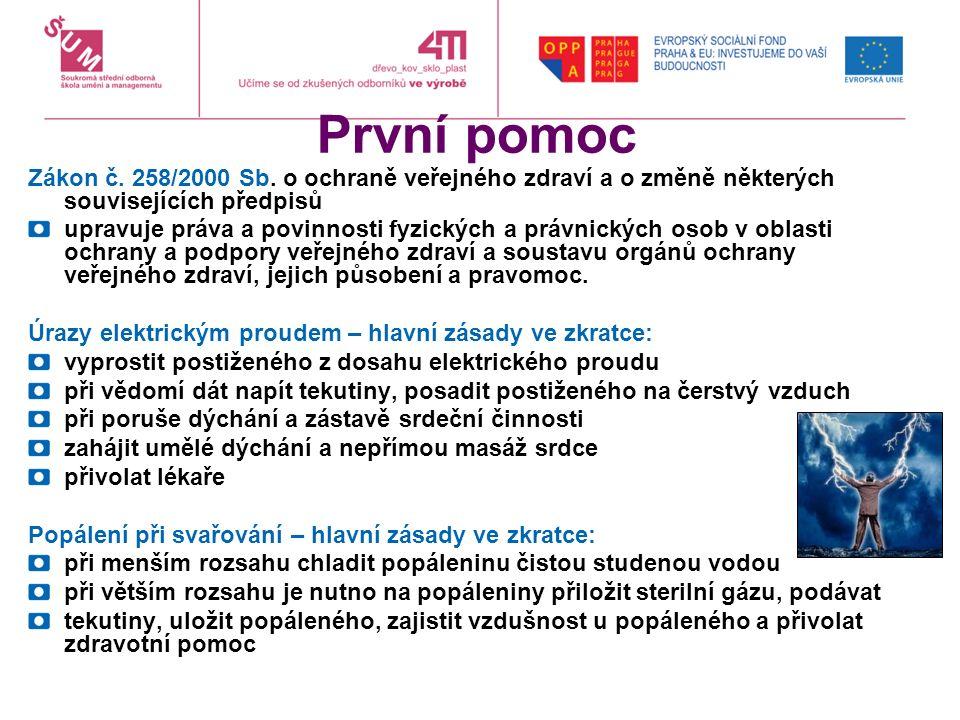 První pomoc Zákon č. 258/2000 Sb.