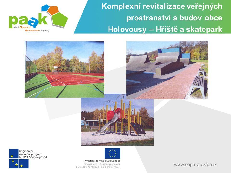Komplexní revitalizace veřejných prostranství a budov obce Holovousy – Hřiště a skatepark
