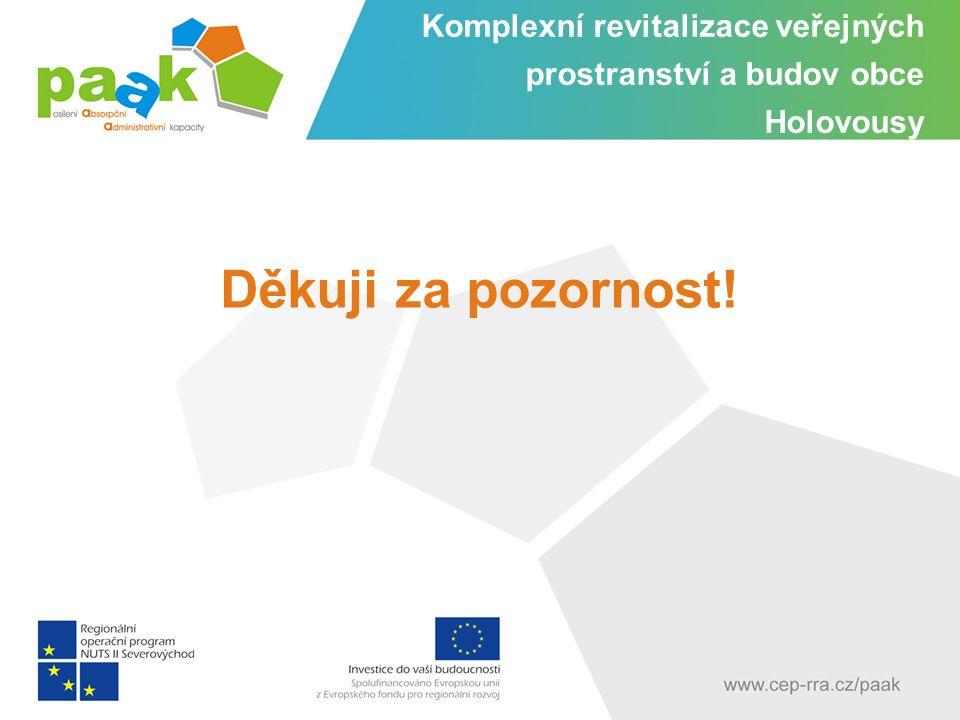 Komplexní revitalizace veřejných prostranství a budov obce Holovousy Děkuji za pozornost!