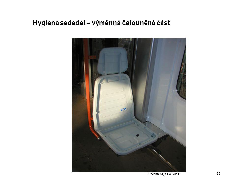 65 © Siemens, s.r.o. 2014 Hygiena sedadel – výměnná čalouněná část