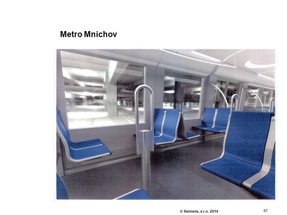 67 © Siemens, s.r.o. 2014 Metro Mnichov