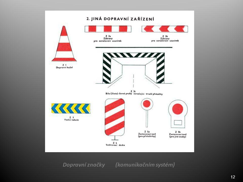 12 Dopravní značky (komunikačním systém)