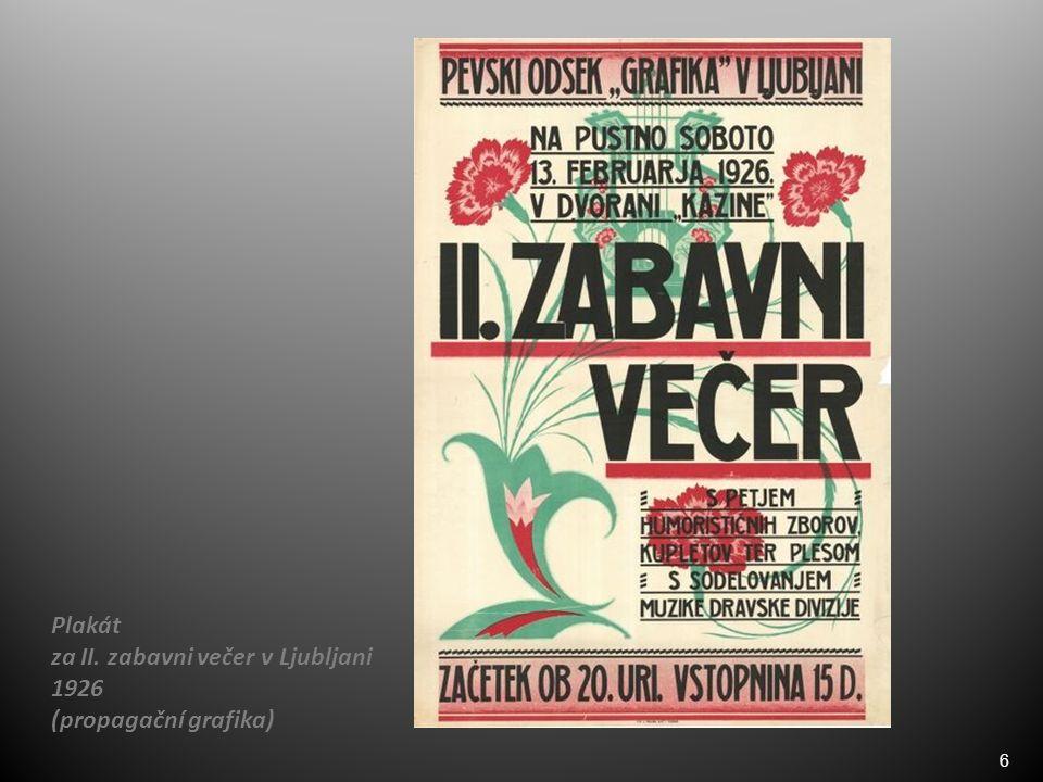 6 Plakát za II. zabavni večer v Ljubljani 1926 (propagační grafika)