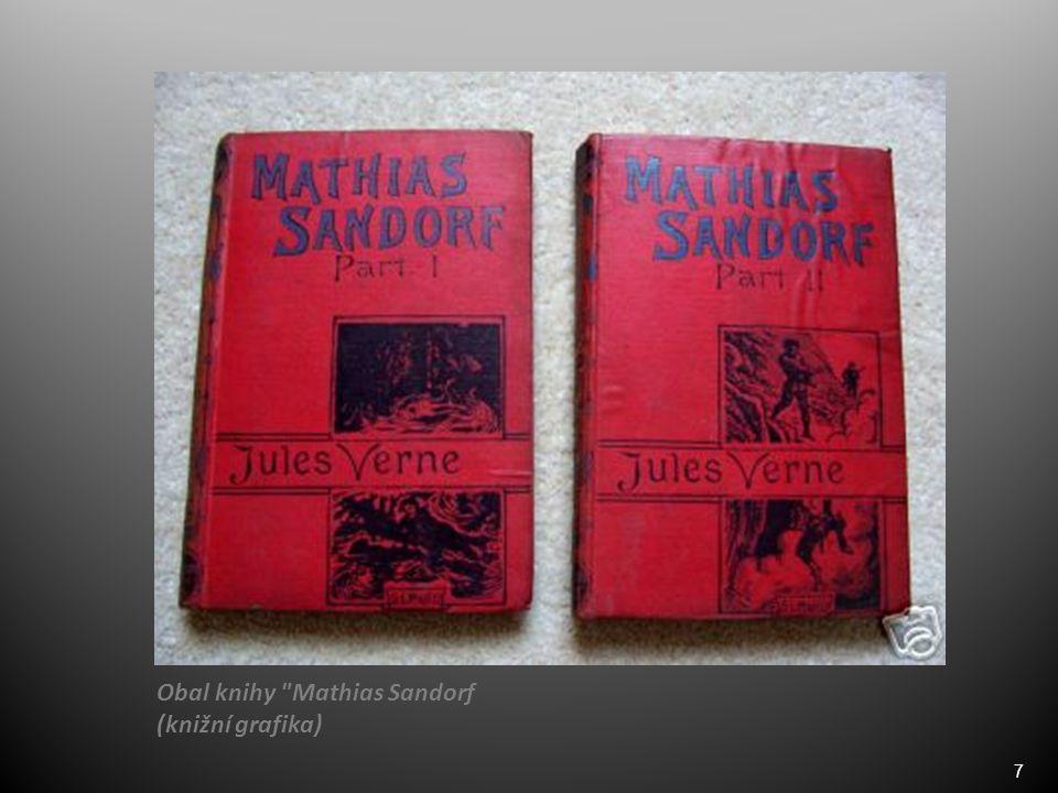 7 Obal knihy Mathias Sandorf (knižní grafika)