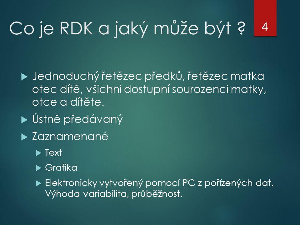 Co je RDK a jaký může být .