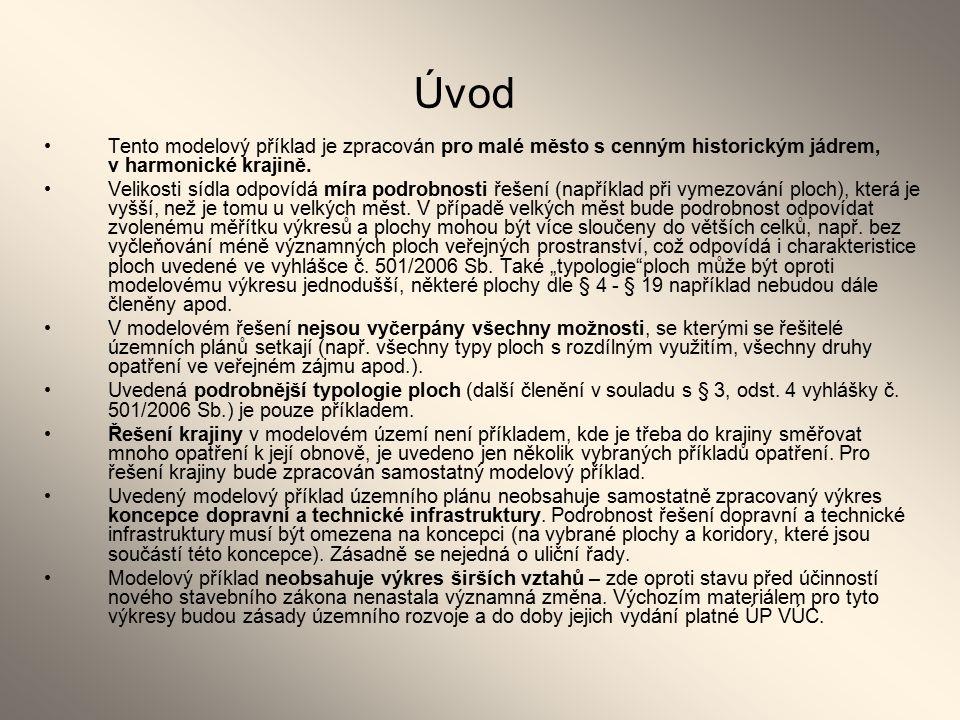Plochy s rozdílným způsobem využití Dle § 4 až §19 vyhlášky č.