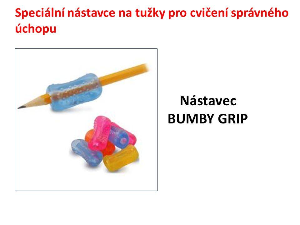 Speciální nástavce na tužky pro cvičení správného úchopu Nástavec BUMBY GRIP