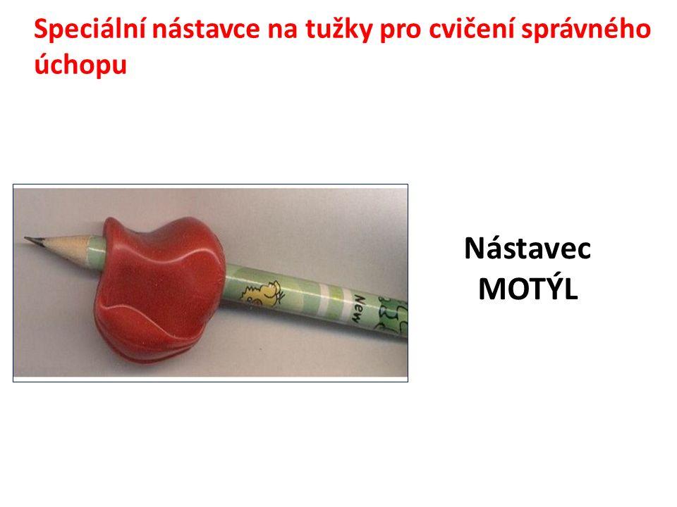 Speciální nástavce na tužky pro cvičení správného úchopu Nástavec MOTÝL