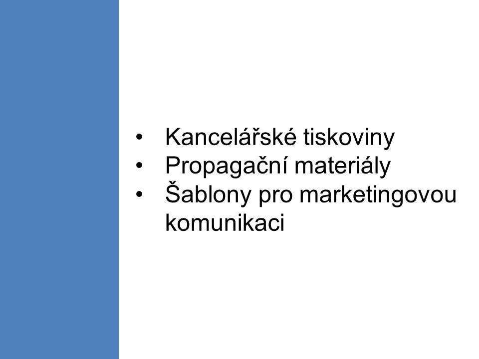 Kancelářské tiskoviny Propagační materiály Šablony pro marketingovou komunikaci