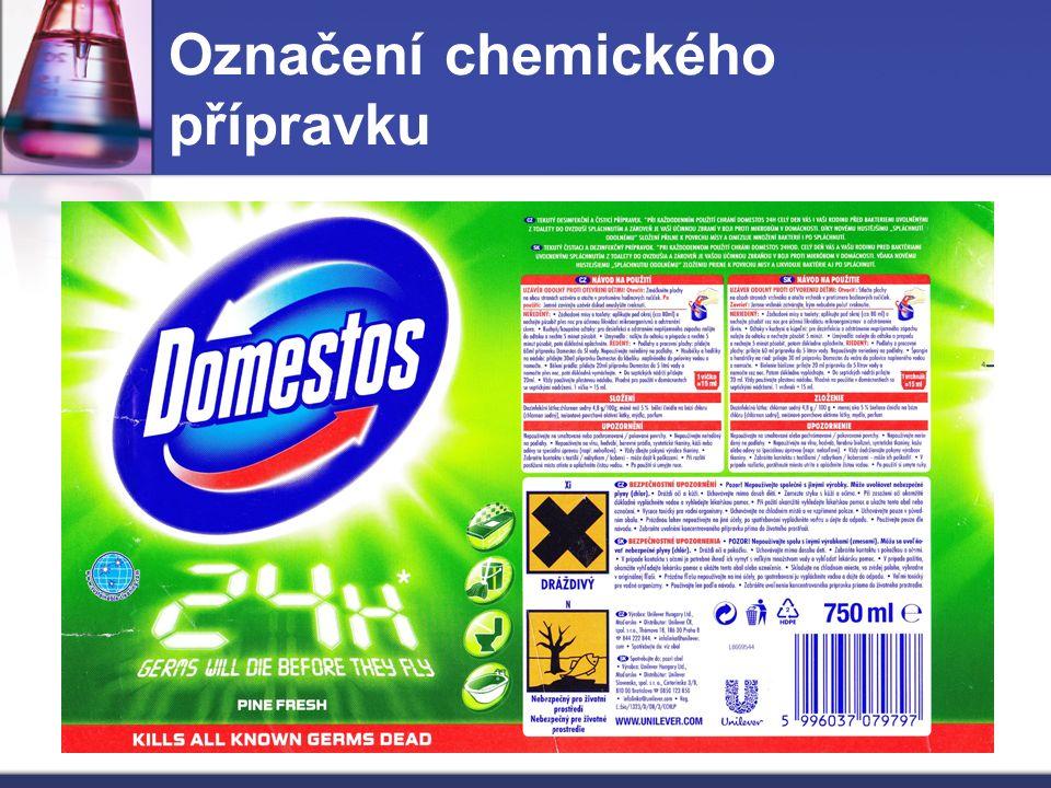 Označení chemického přípravku