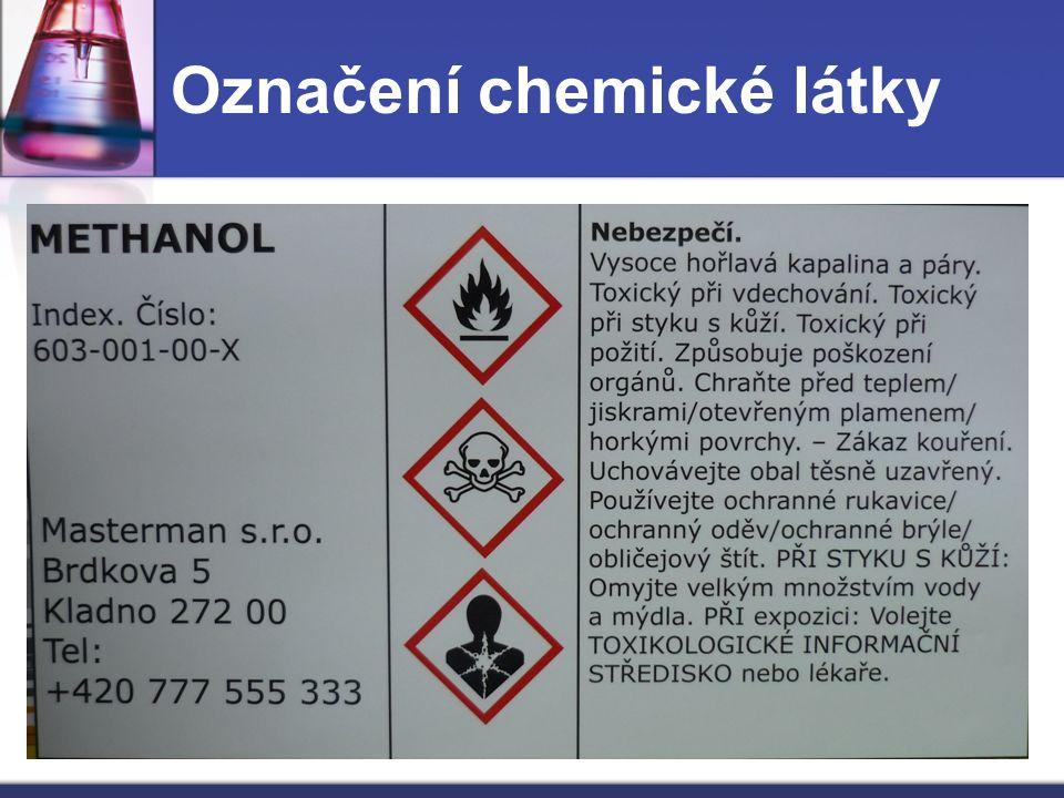 Označení chemické látky