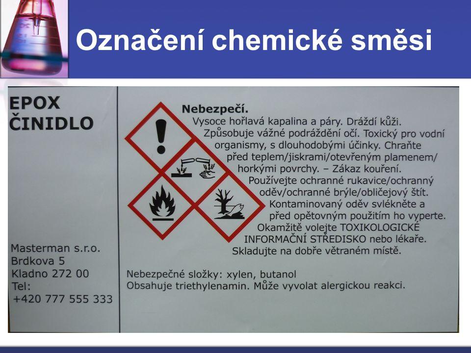 Označení chemické směsi