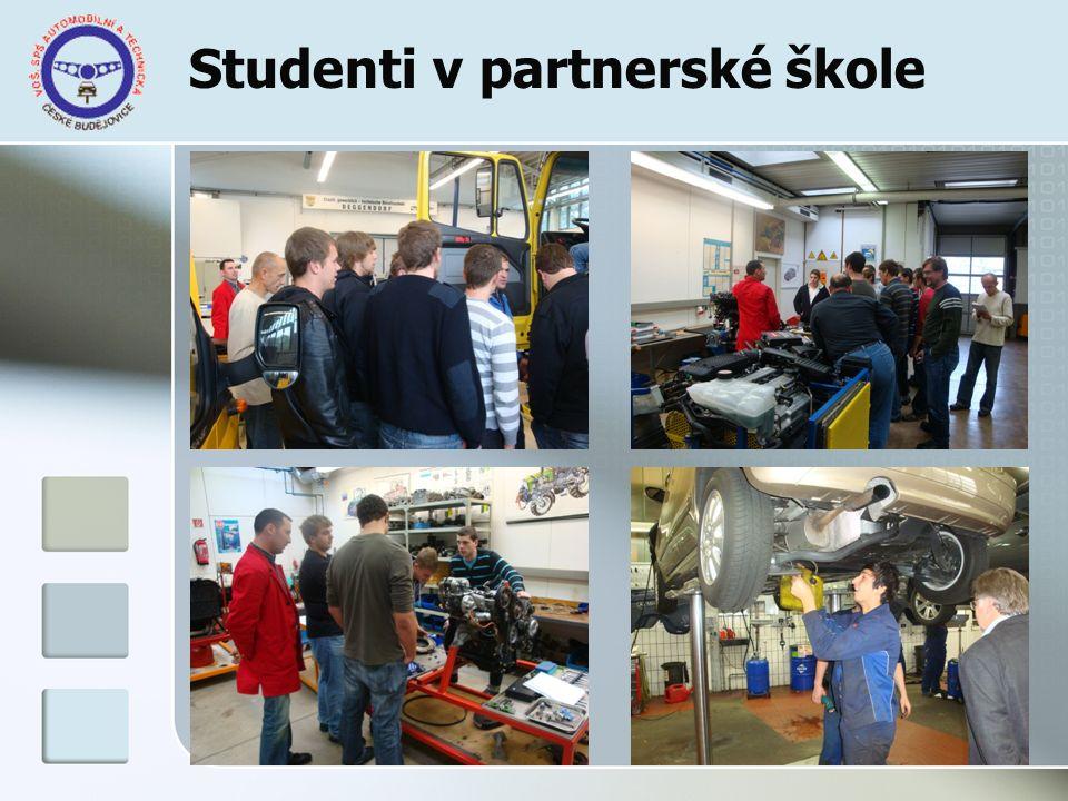 Studenti v partnerské škole