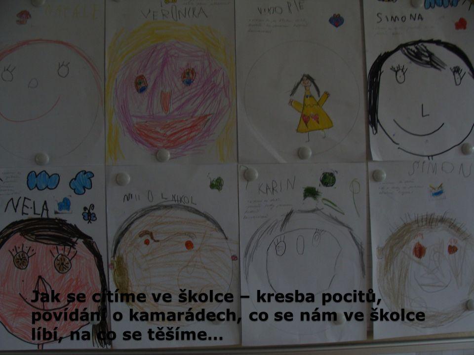 Jak se cítíme ve školce – kresba pocitů, povídání o kamarádech, co se nám ve školce líbí, na co se těšíme…